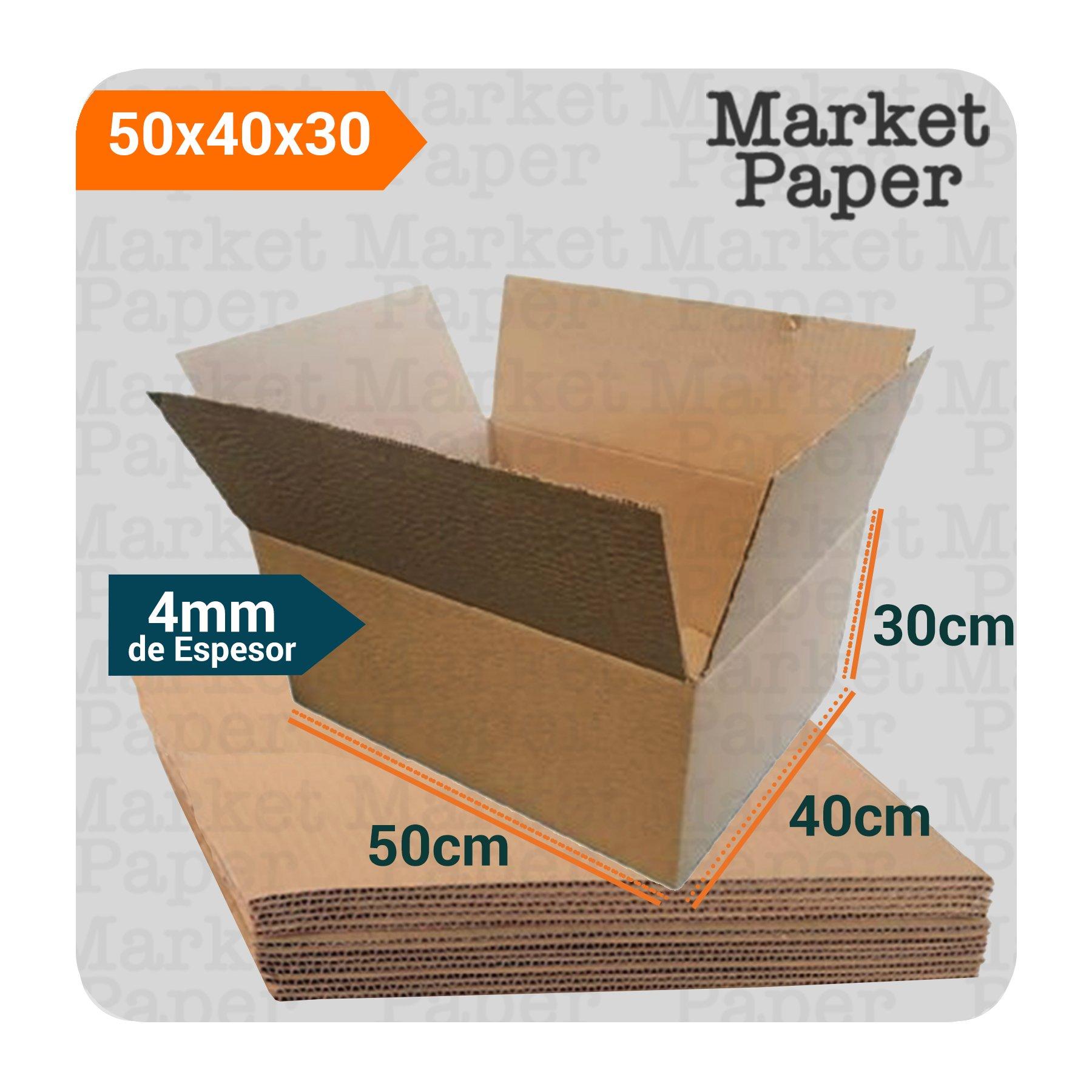 Caja De Cartón Corrugado Reforzada 50x40x30