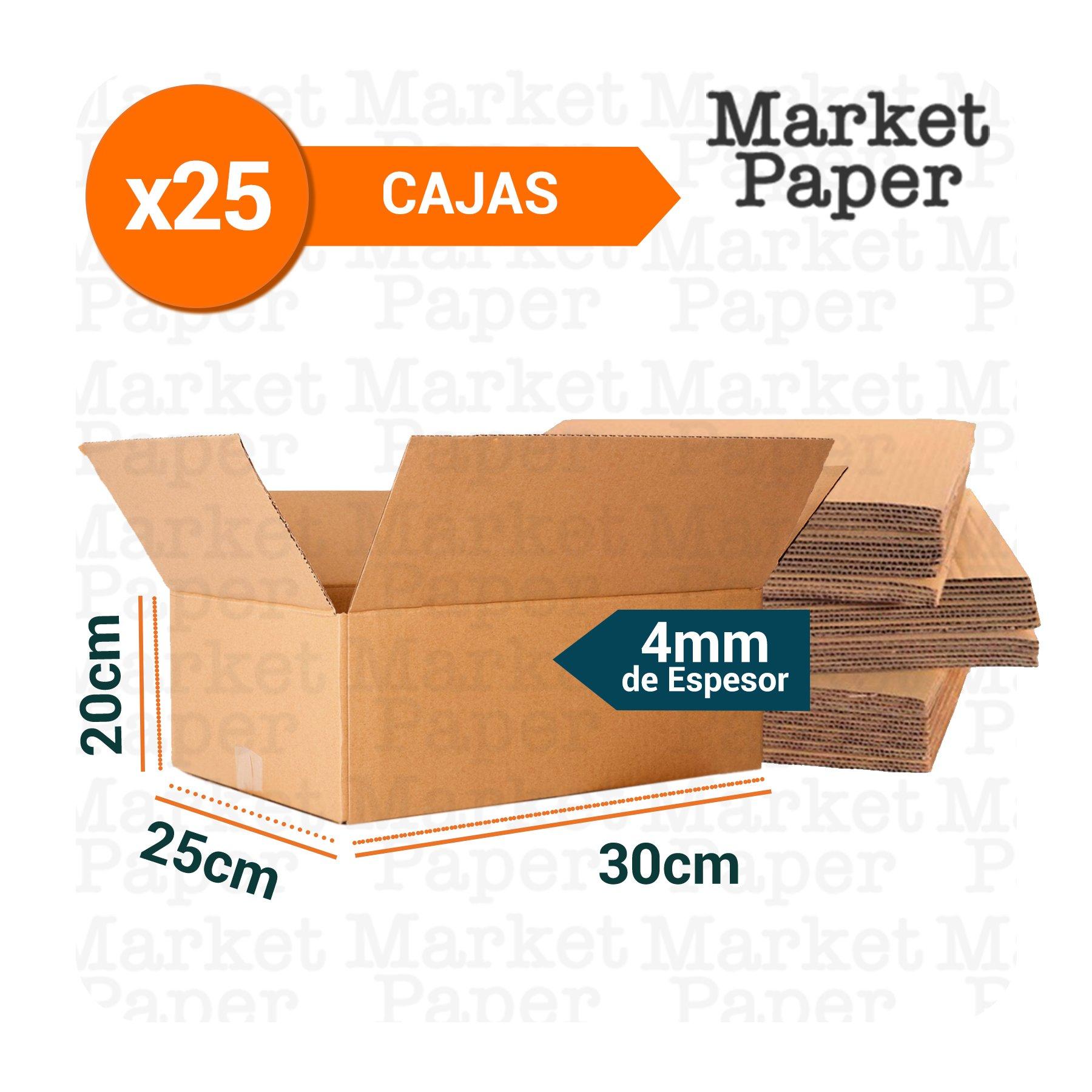 Caja De Cartón Corrugado Reforzada 30x25x20