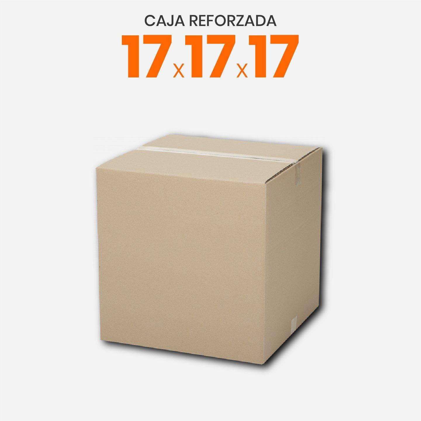Caja De Cartón Corrugado Reforzada 17x17x17