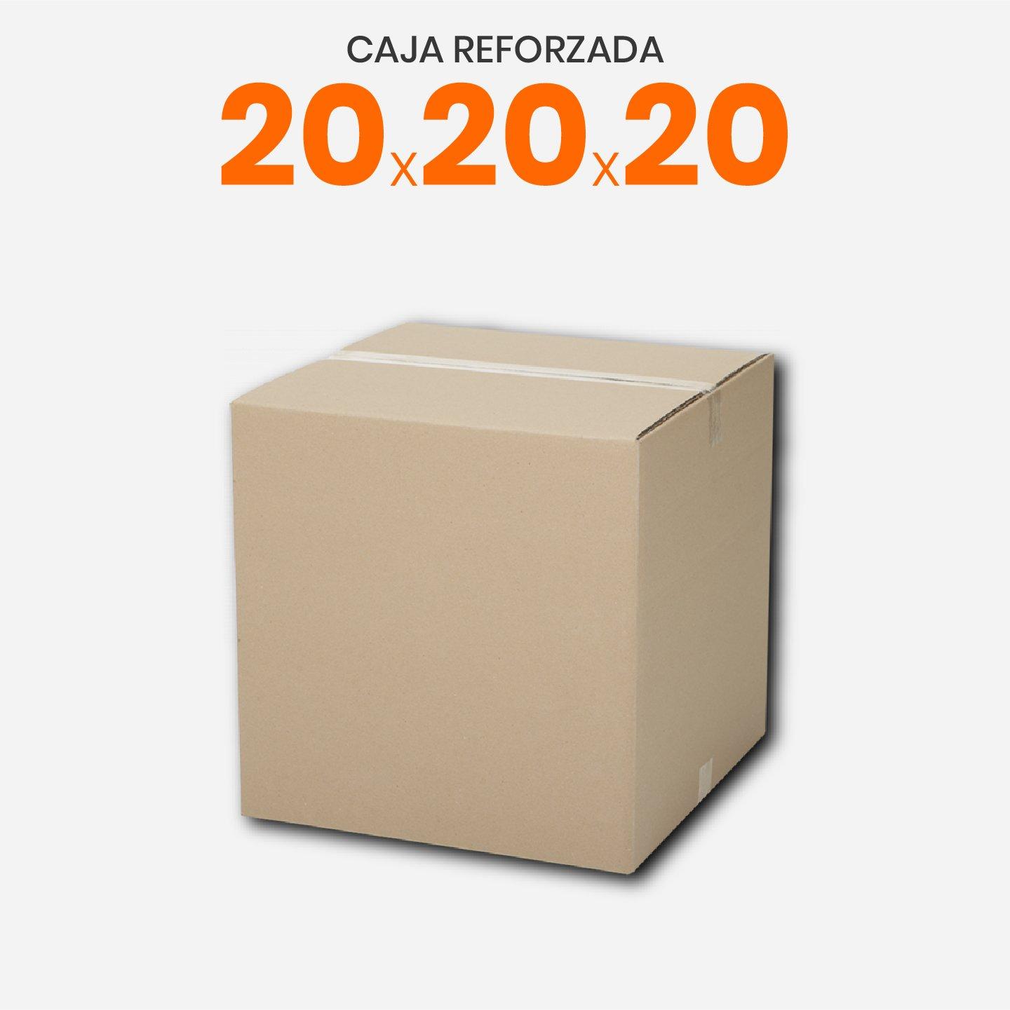Caja De Cartón Corrugado Reforzada 20x20x20