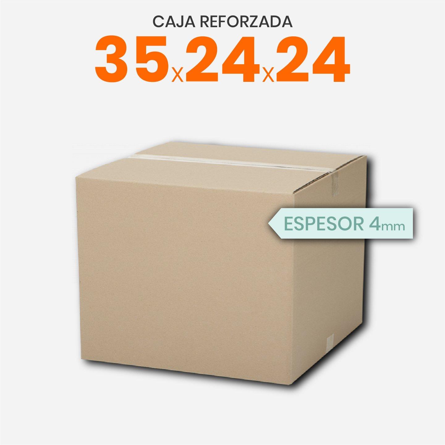 Caja De Cartón Corrugado Reforzada 35x24x24