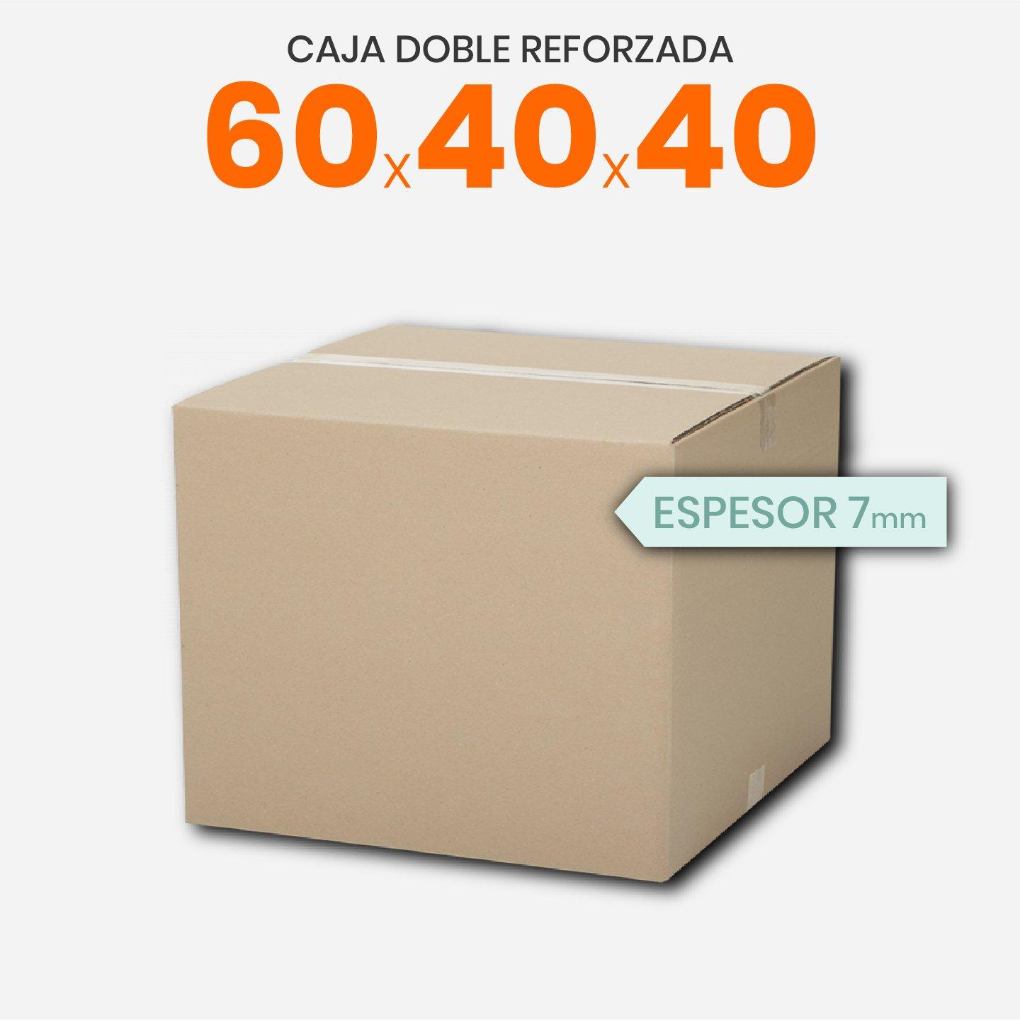 Caja De Cartón Corrugado Doble Reforzada 60x40x40