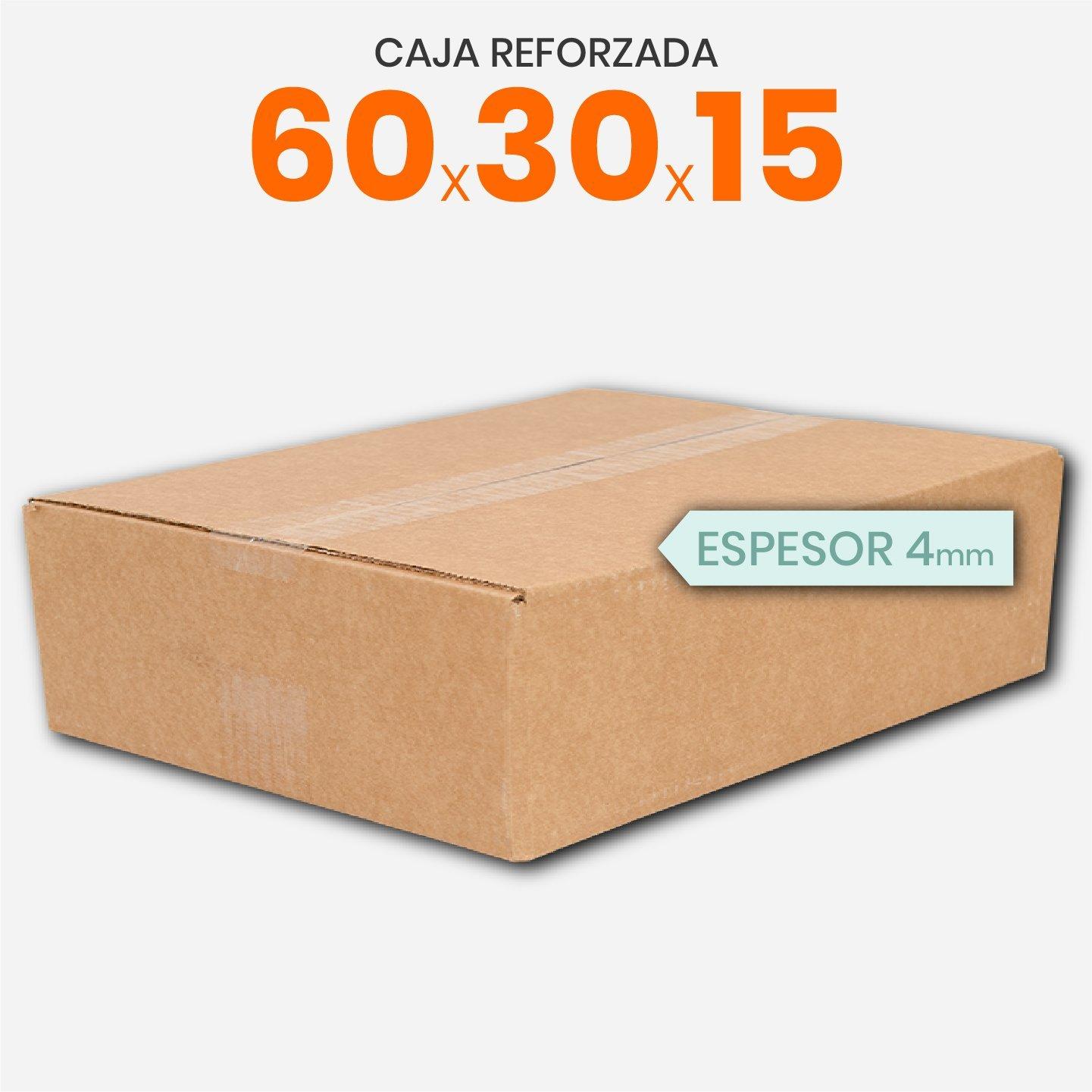 Caja De Cartón Corrugado Reforzada 60x30x15