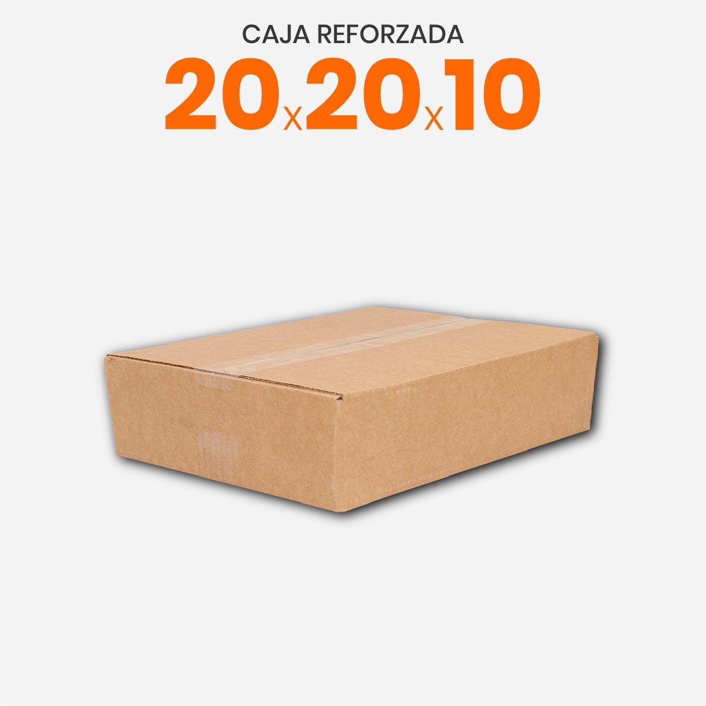 Caja De Cartón Corrugado Reforzada 20x20x10