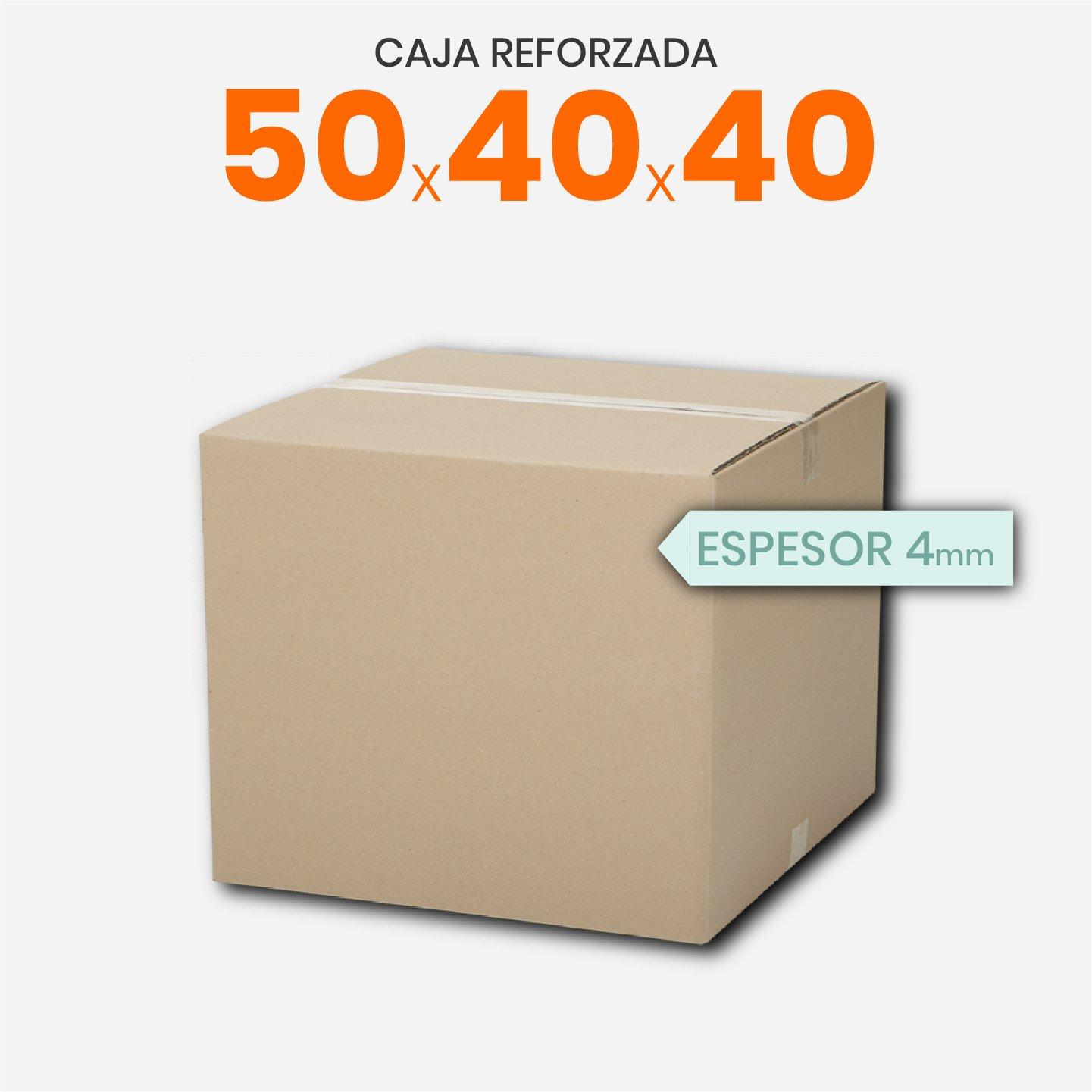 Caja De Cartón Corrugado Reforzada 50x40x40
