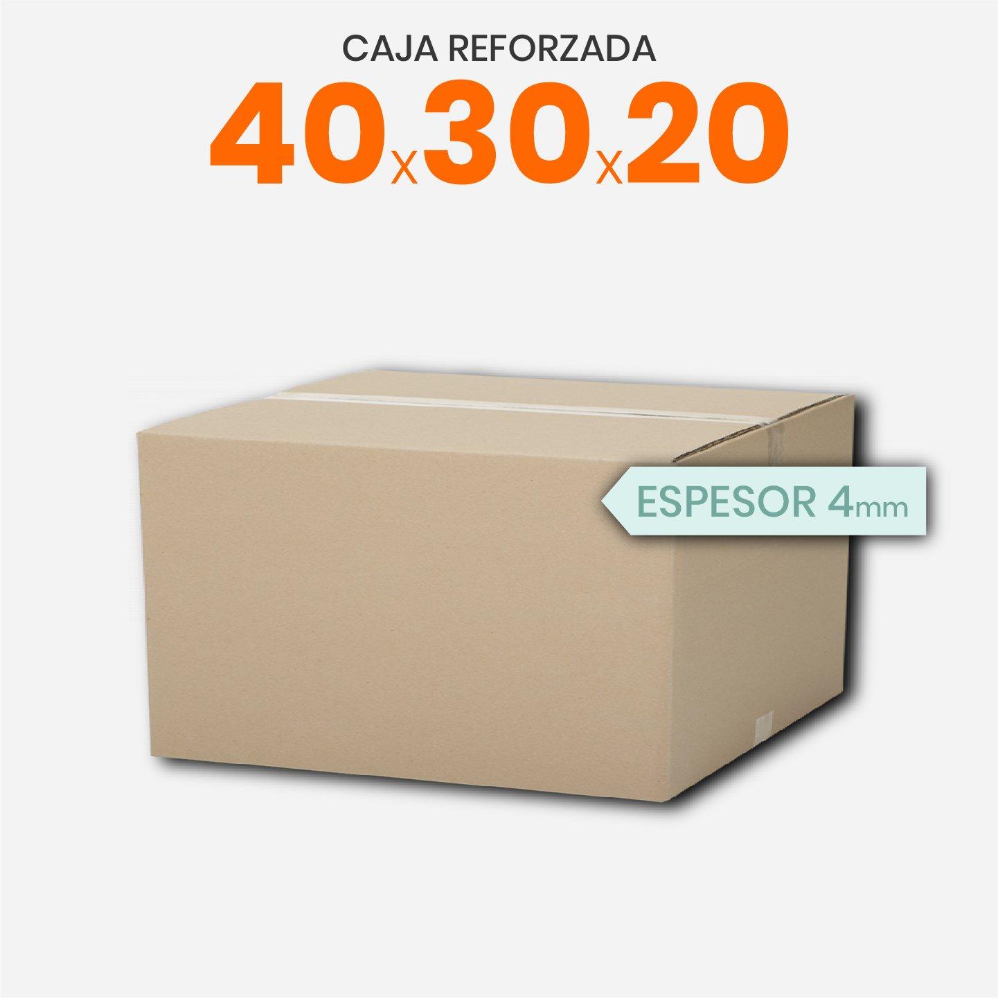 Caja De Cartón Corrugado Reforzada 40x30x20