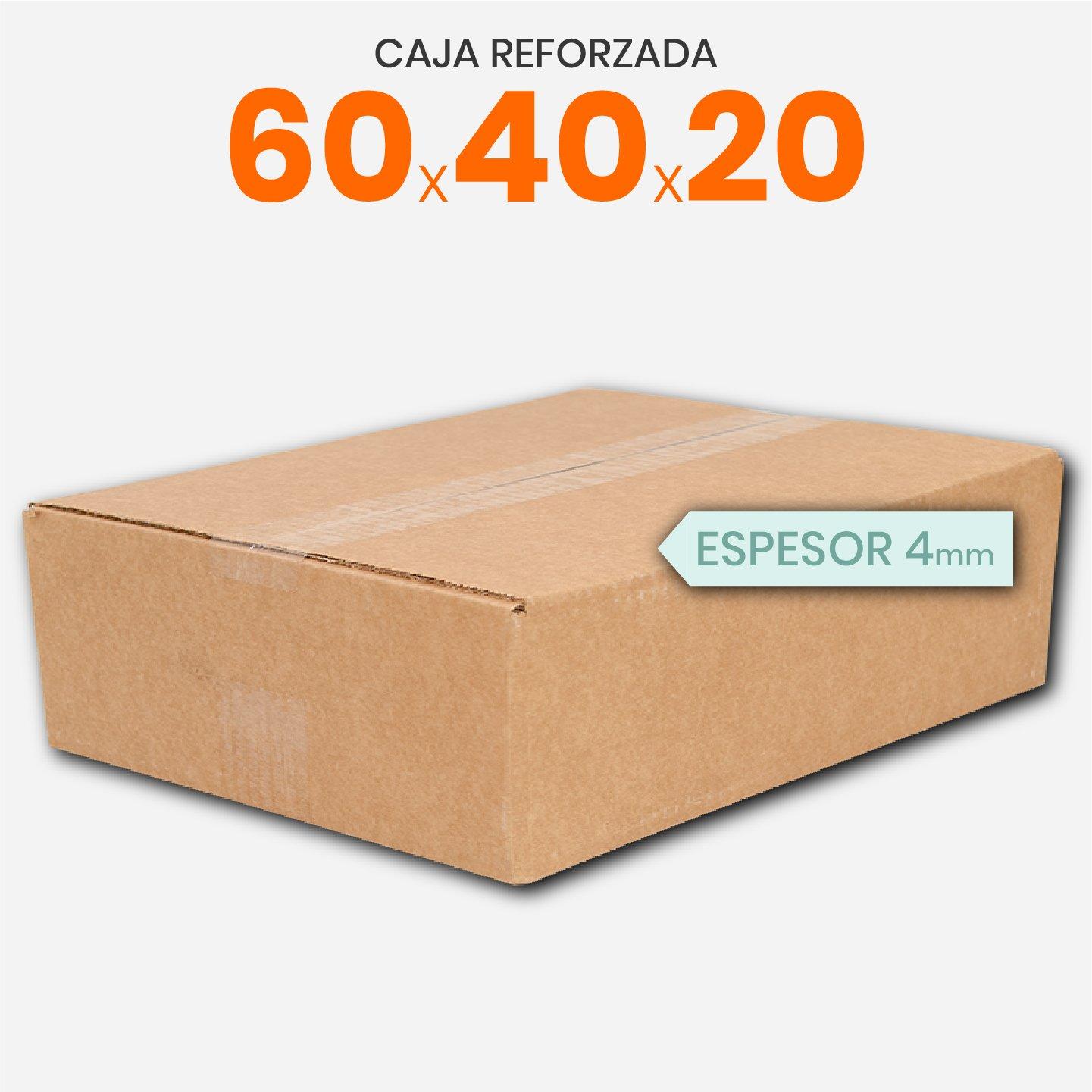 Caja De Cartón Corrugado Reforzada 60x40x20
