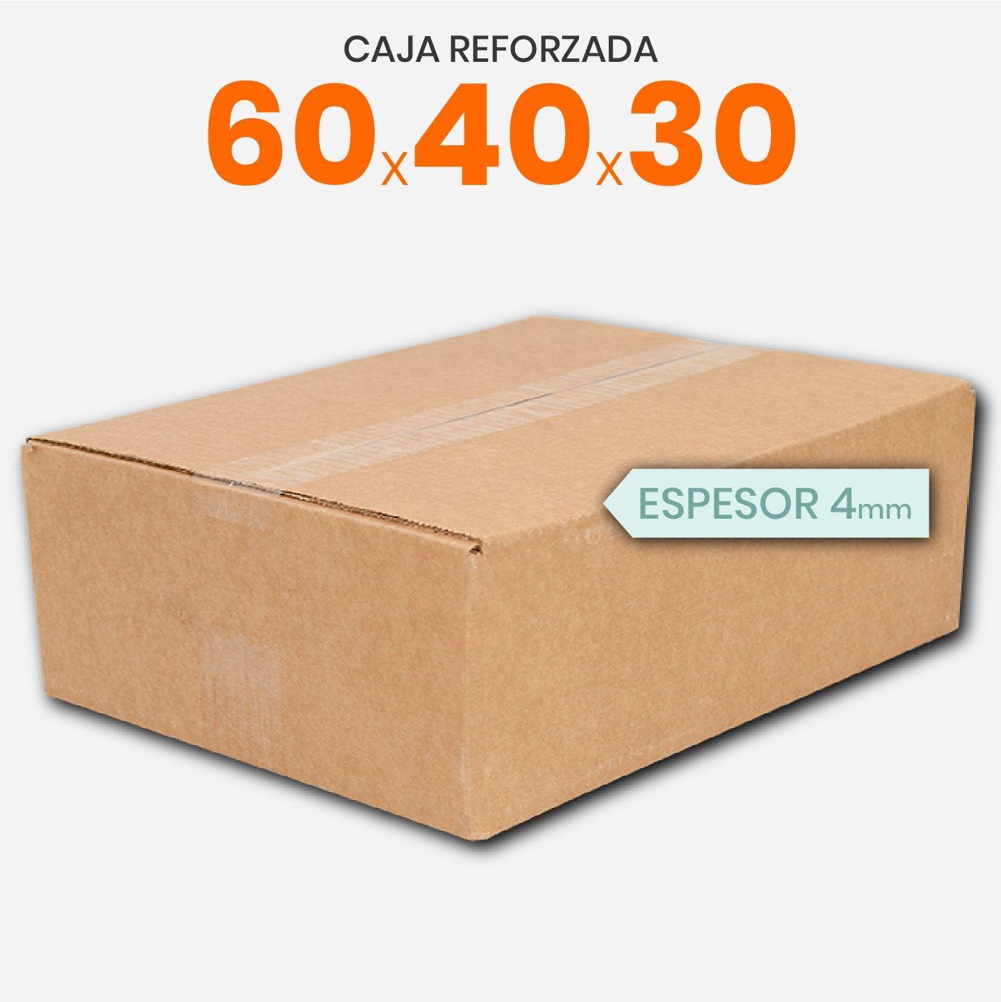 Caja De Cartón Corrugado Reforzada 60x40x30