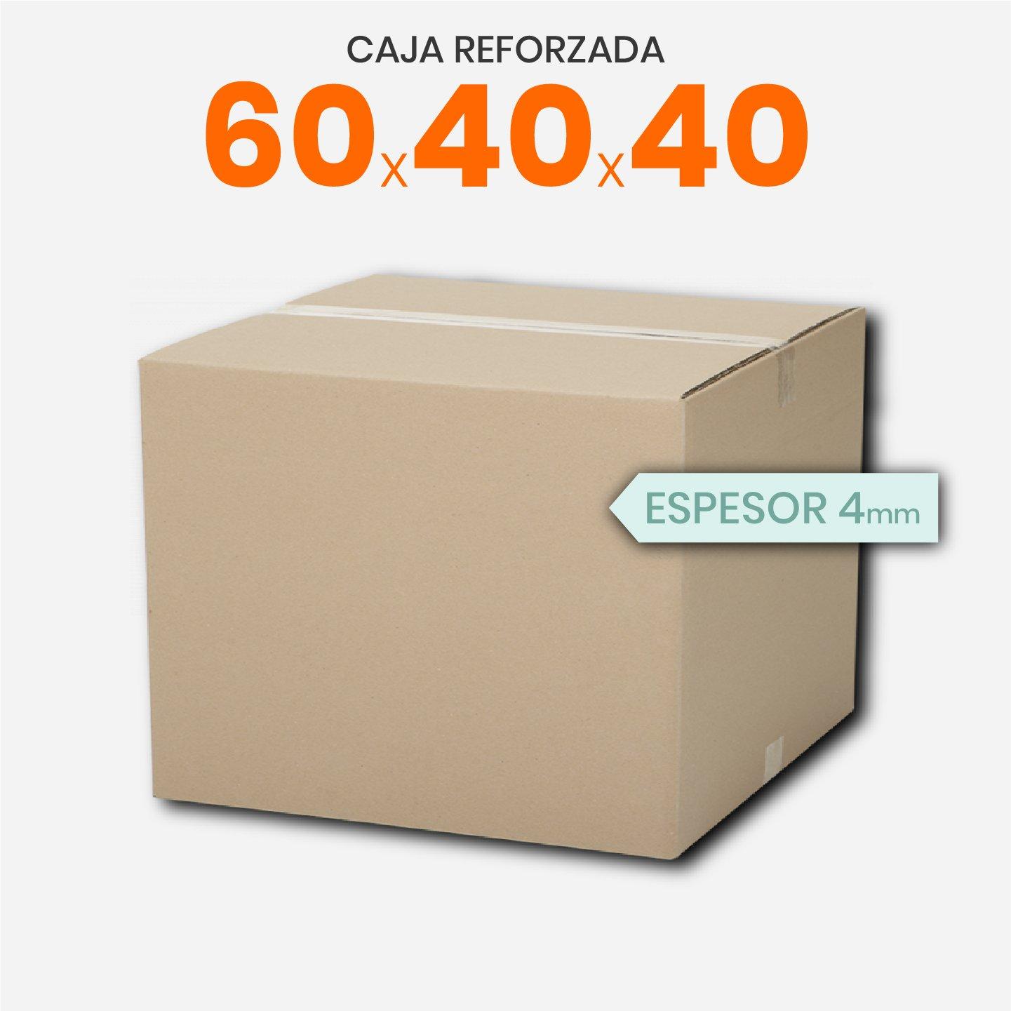 Caja De Cartón Corrugado Reforzada 60x40x40
