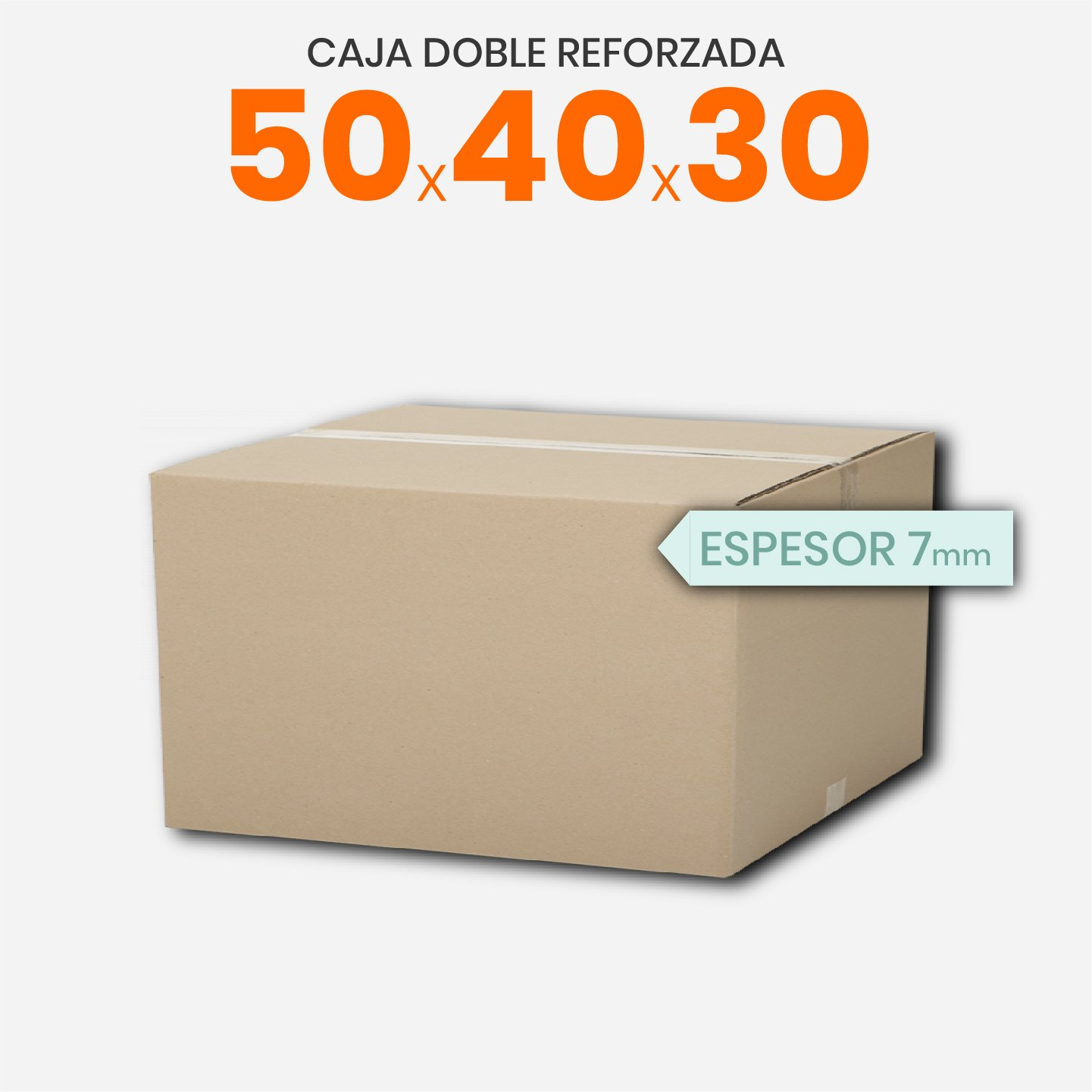 Caja De Cartón Corrugado Doble Reforzada 50x40x30