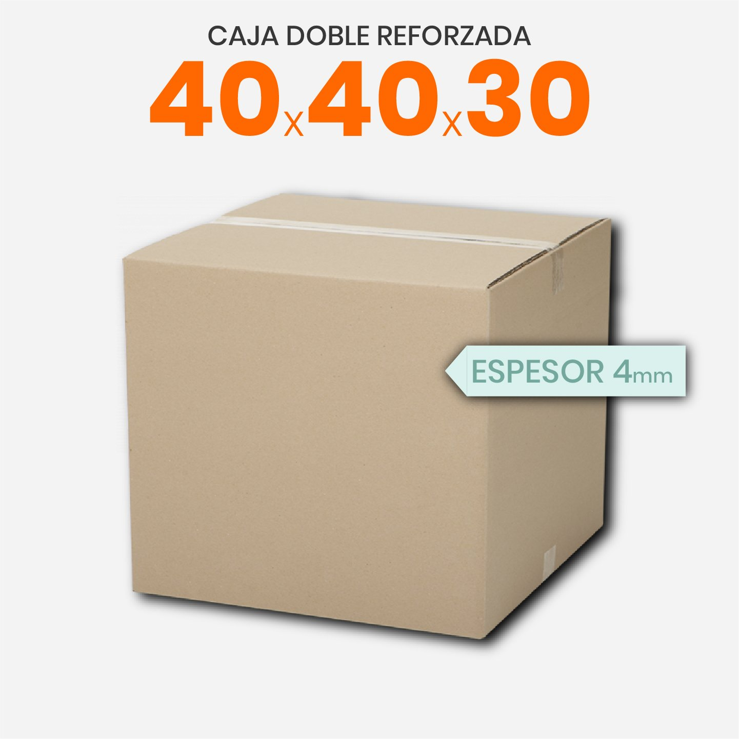 Caja De Cartón Corrugado Reforzada 40x40x30