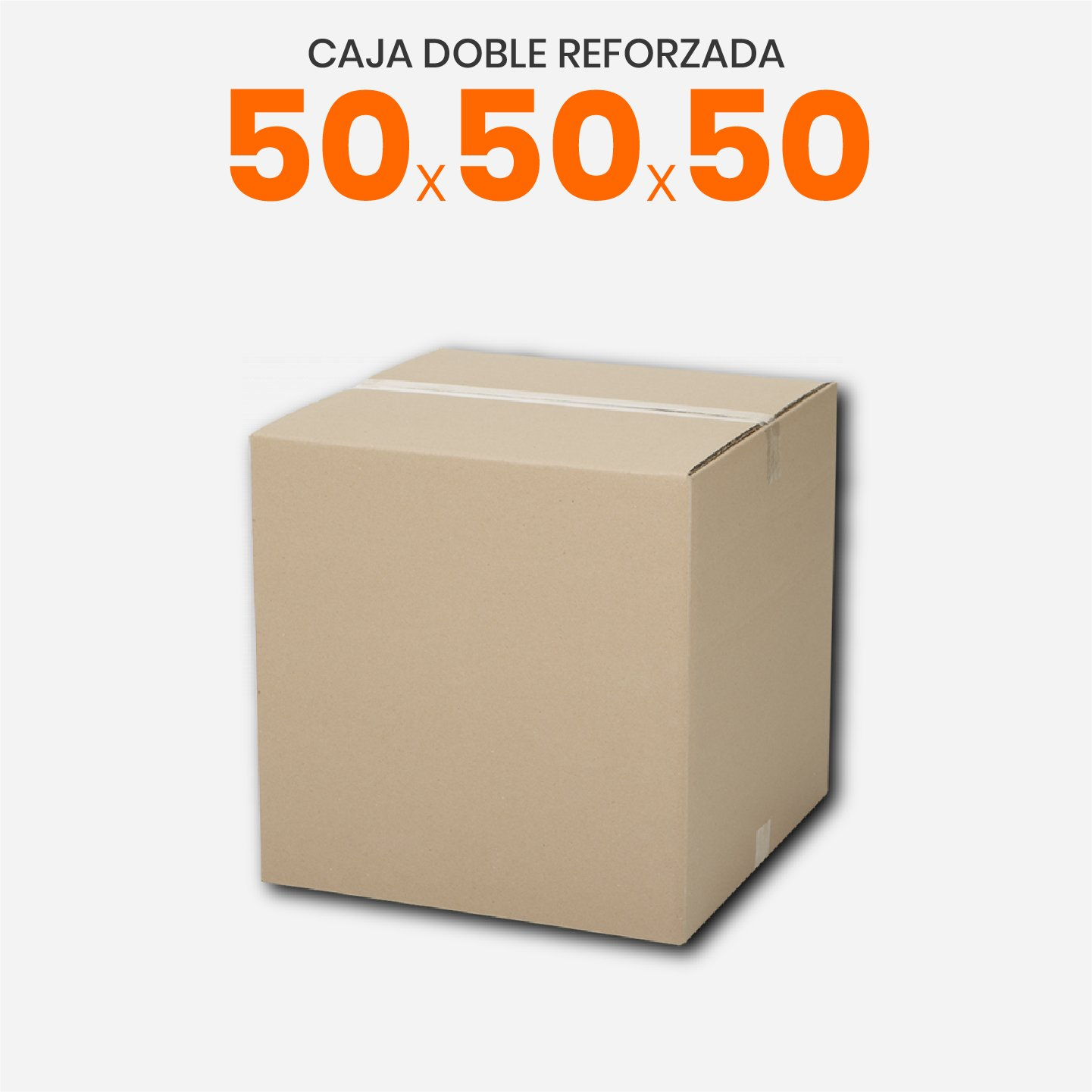 Caja De Cartón Corrugado Doble Reforzada 50x50x50