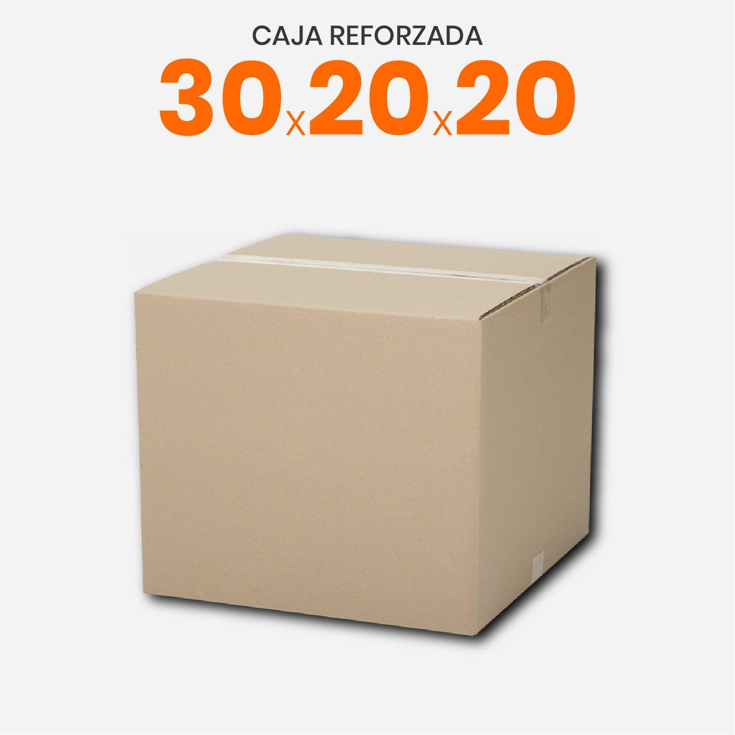 Caja De Cartón Corrugado Reforzada 30x20x20