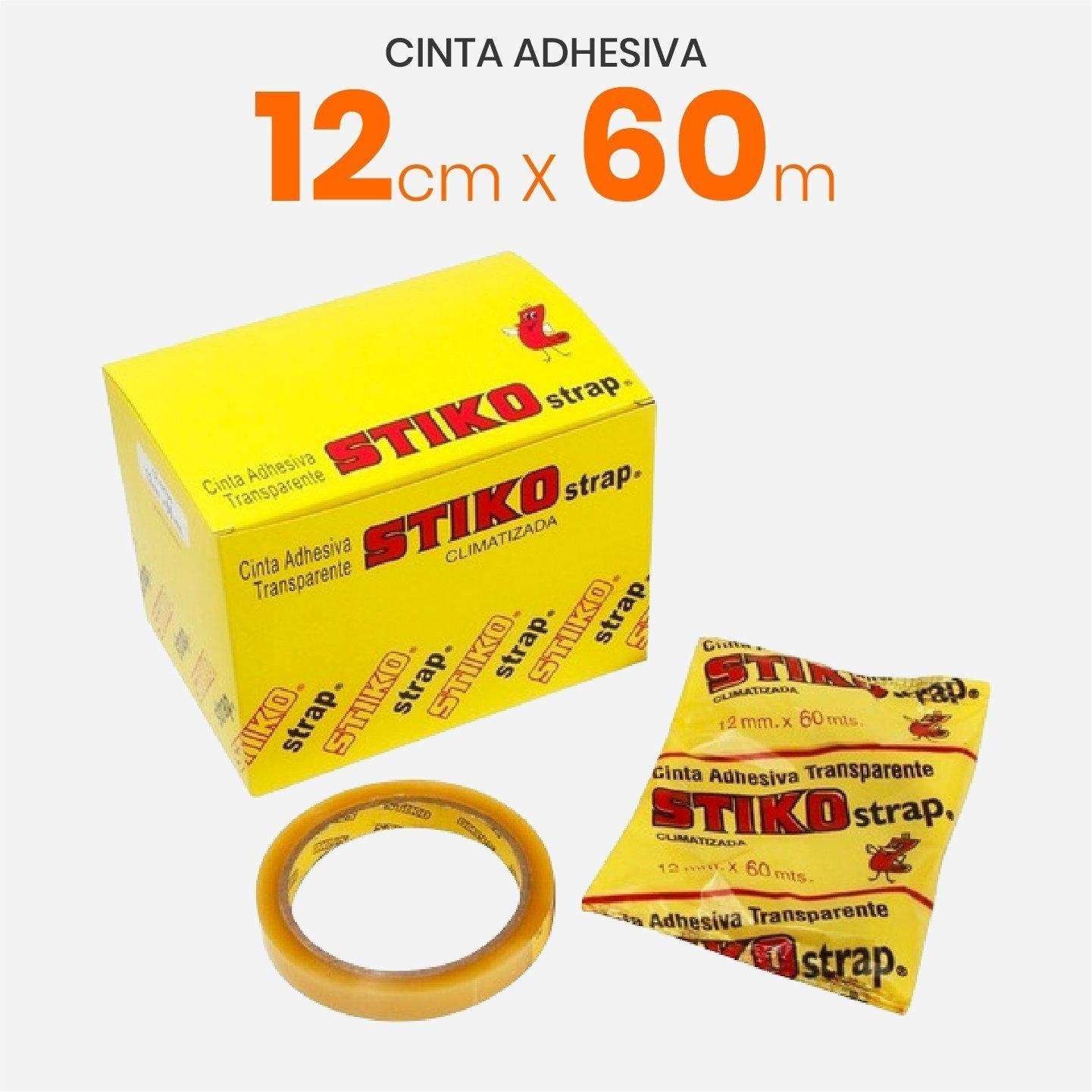 Cinta Adhesiva Transparente Stiko 12mm x 60mts