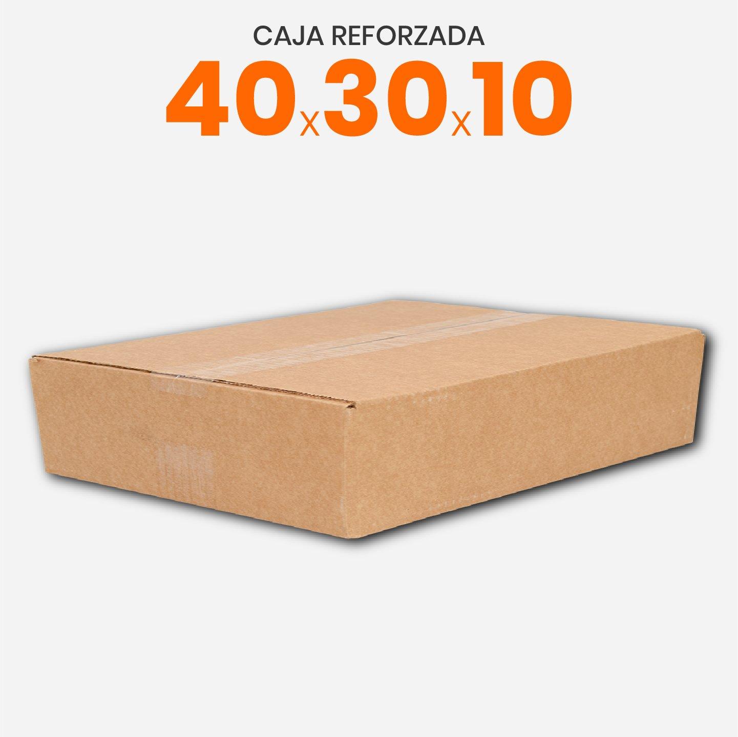 Caja De Cartón Corrugado Reforzada 40x30x10
