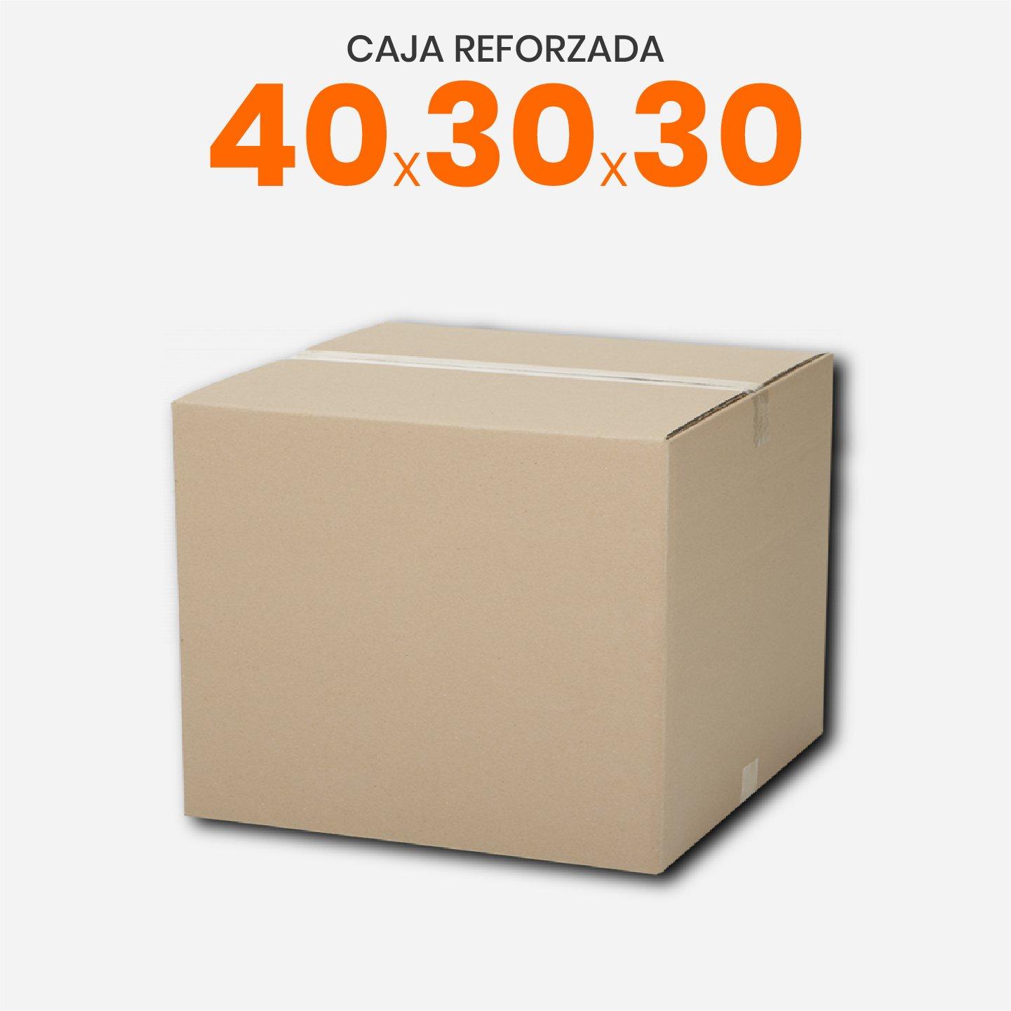 Caja De Cartón Corrugado Reforzada 40x30x30