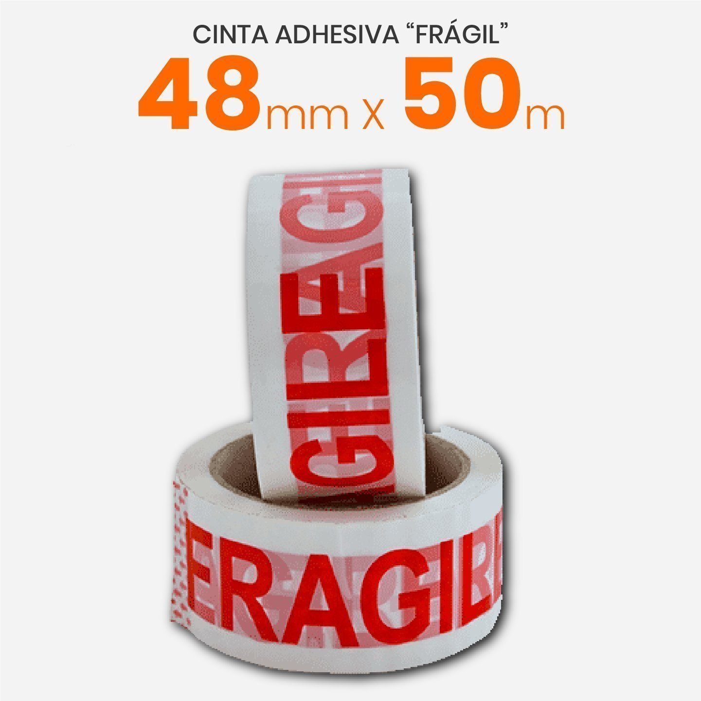 Cinta Adhesiva Frágil 48mm x 50mts
