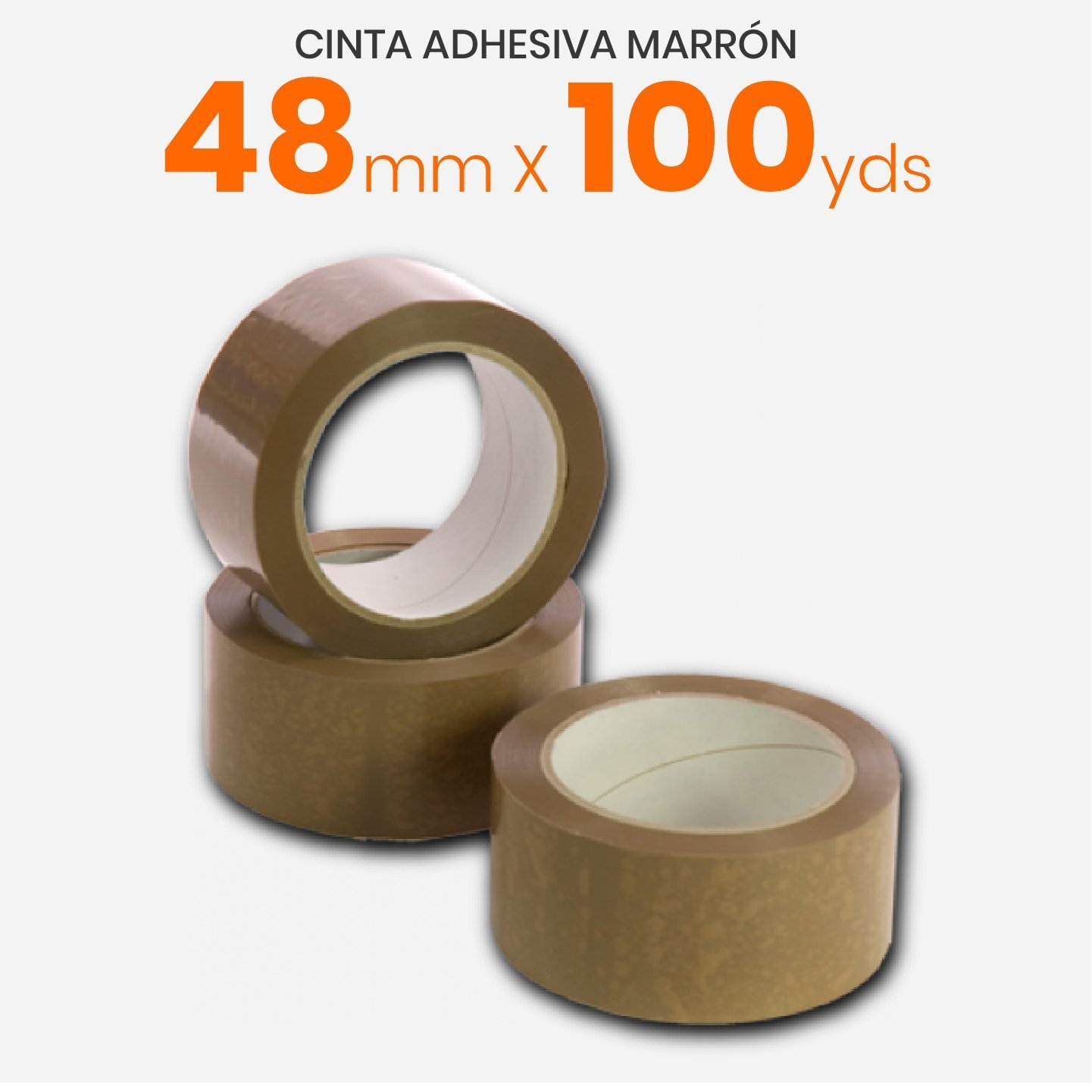 Cinta Adhesiva Marrón 48mm x 100yds