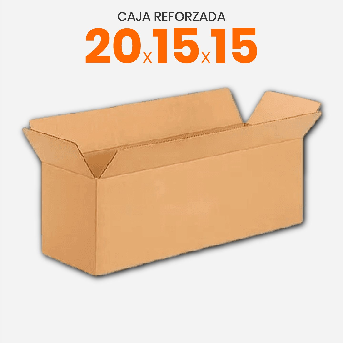 Caja De Cartón Corrugado Reforzada 20x15x15