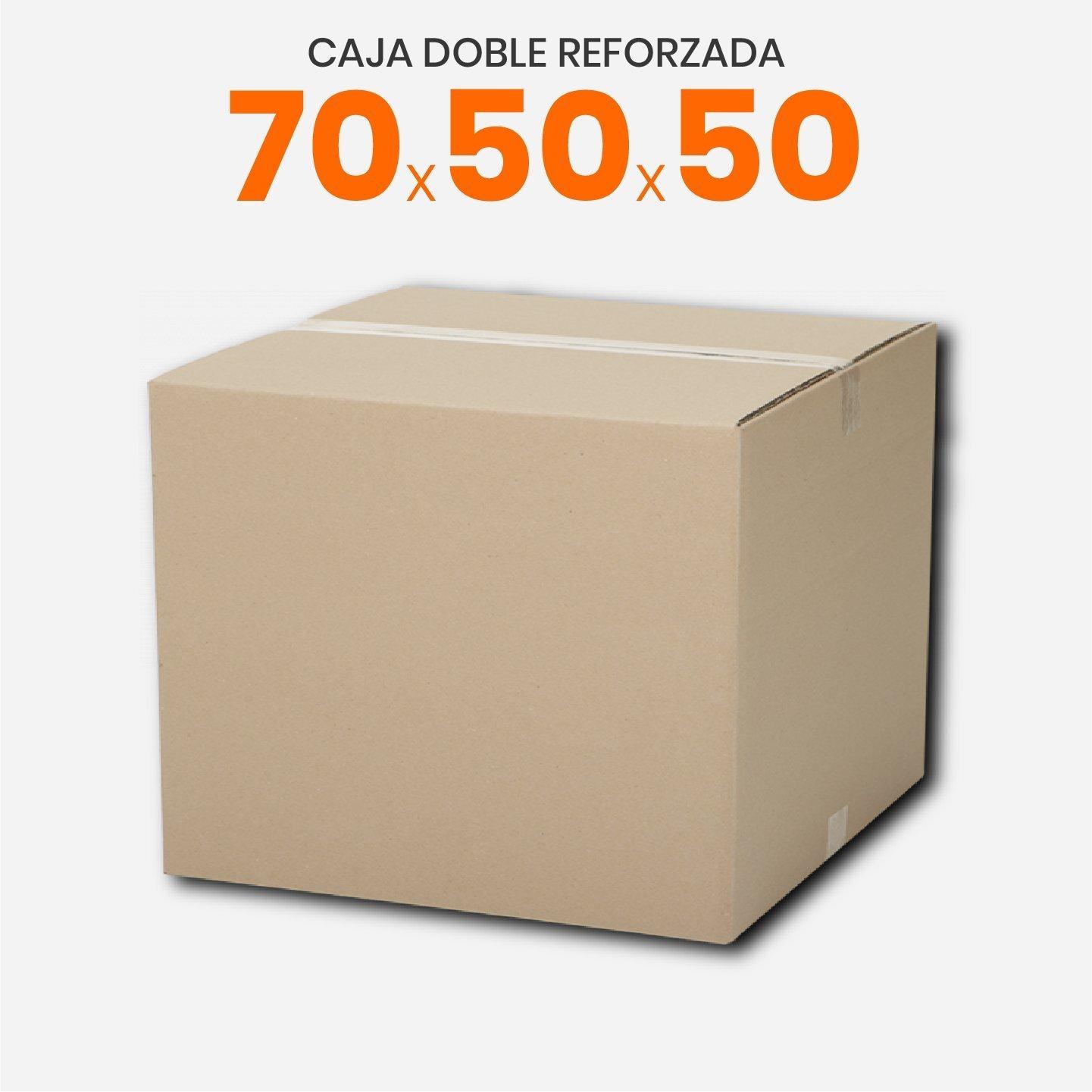 Caja De Cartón Corrugado Doble Reforzada 70x50x50