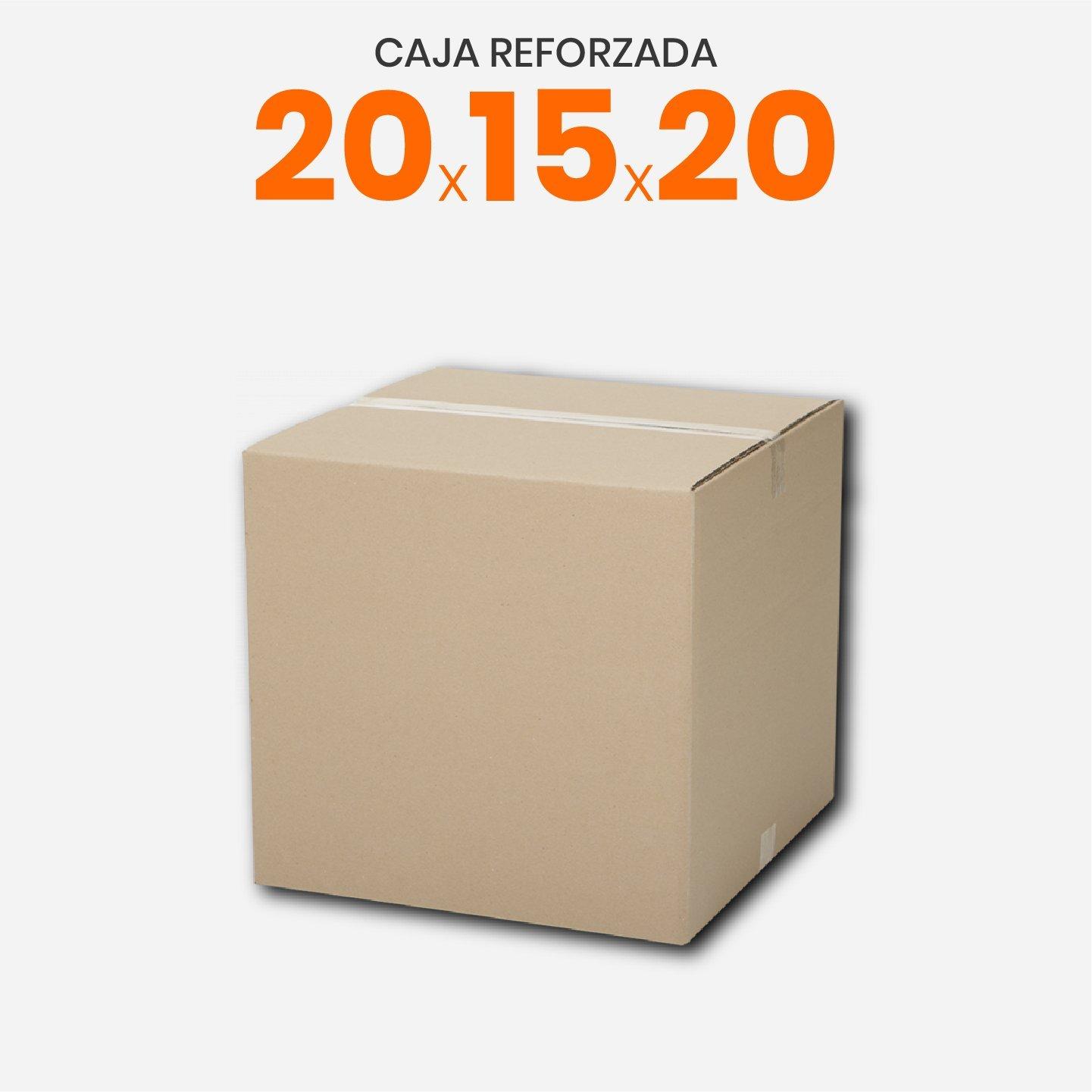 Caja De Cartón Corrugado Reforzada 20x15x20