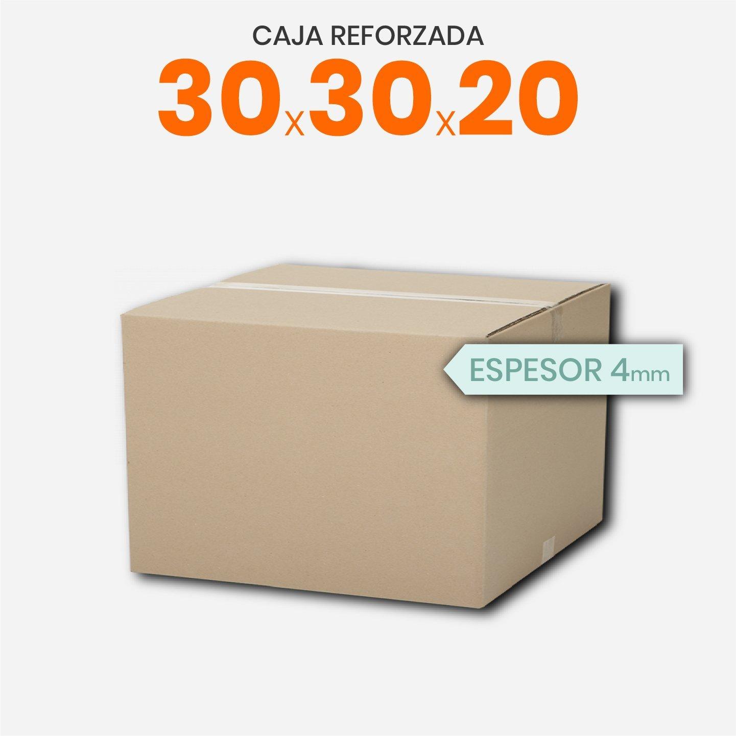 Caja De Cartón Corrugado Reforzada 30x30x20
