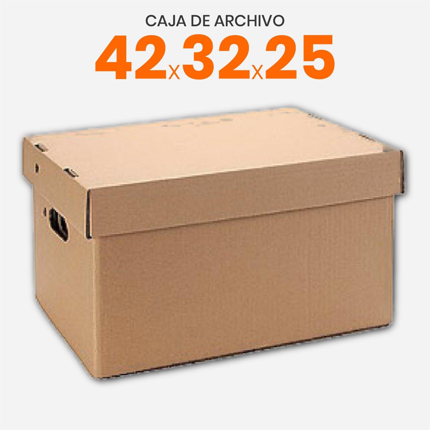 Cajas de archivo americana de cartón 42x32x25