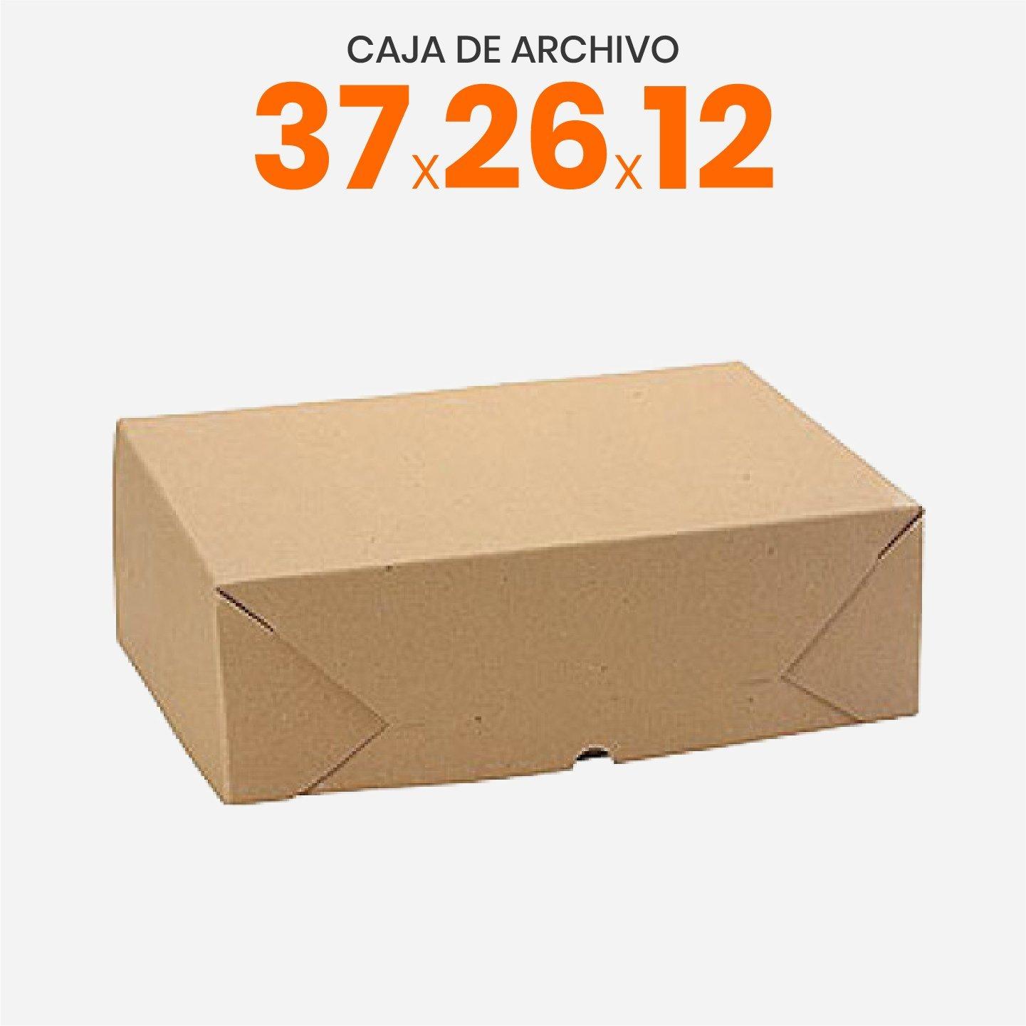 Cajas de archivo con tapa volcada oficio 37x26x12