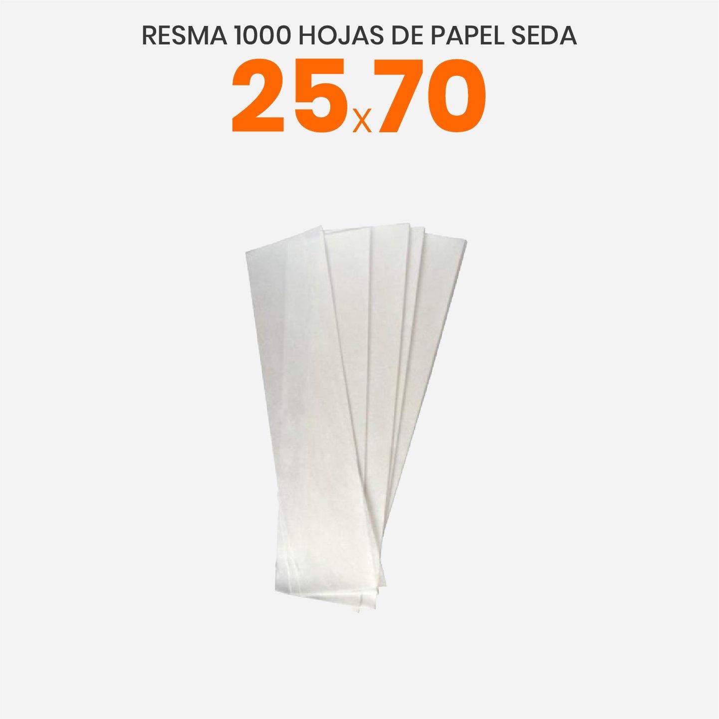 Papel de seda blanco 25x70
