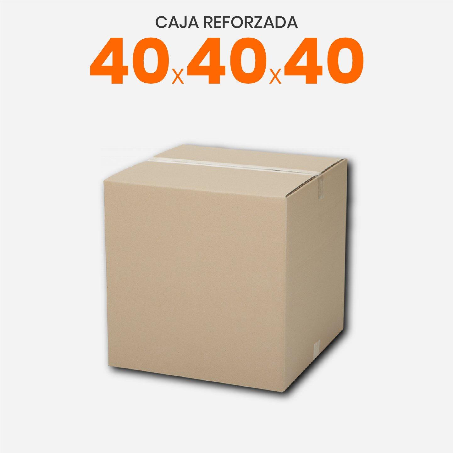 Caja De Cartón Corrugado Reforzada 40x40x40