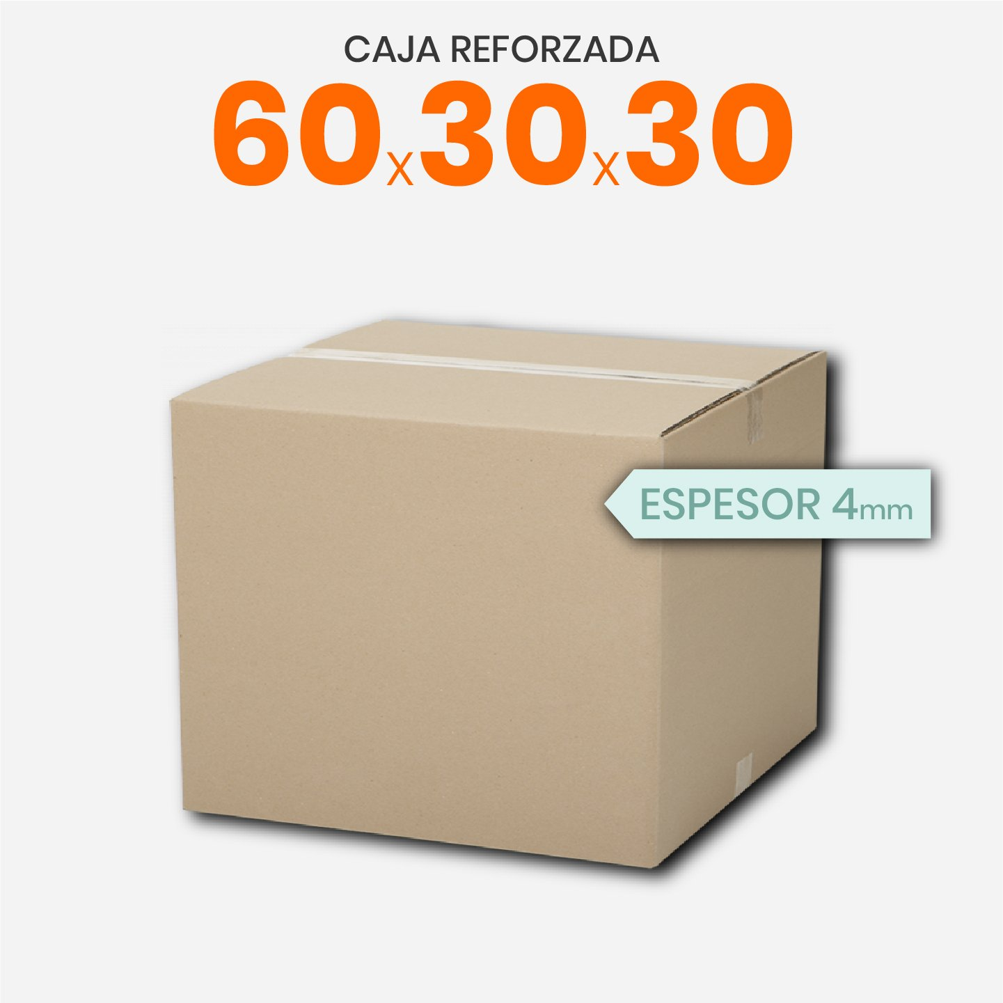 Caja De Cartón Corrugado 60x30x30 4mm