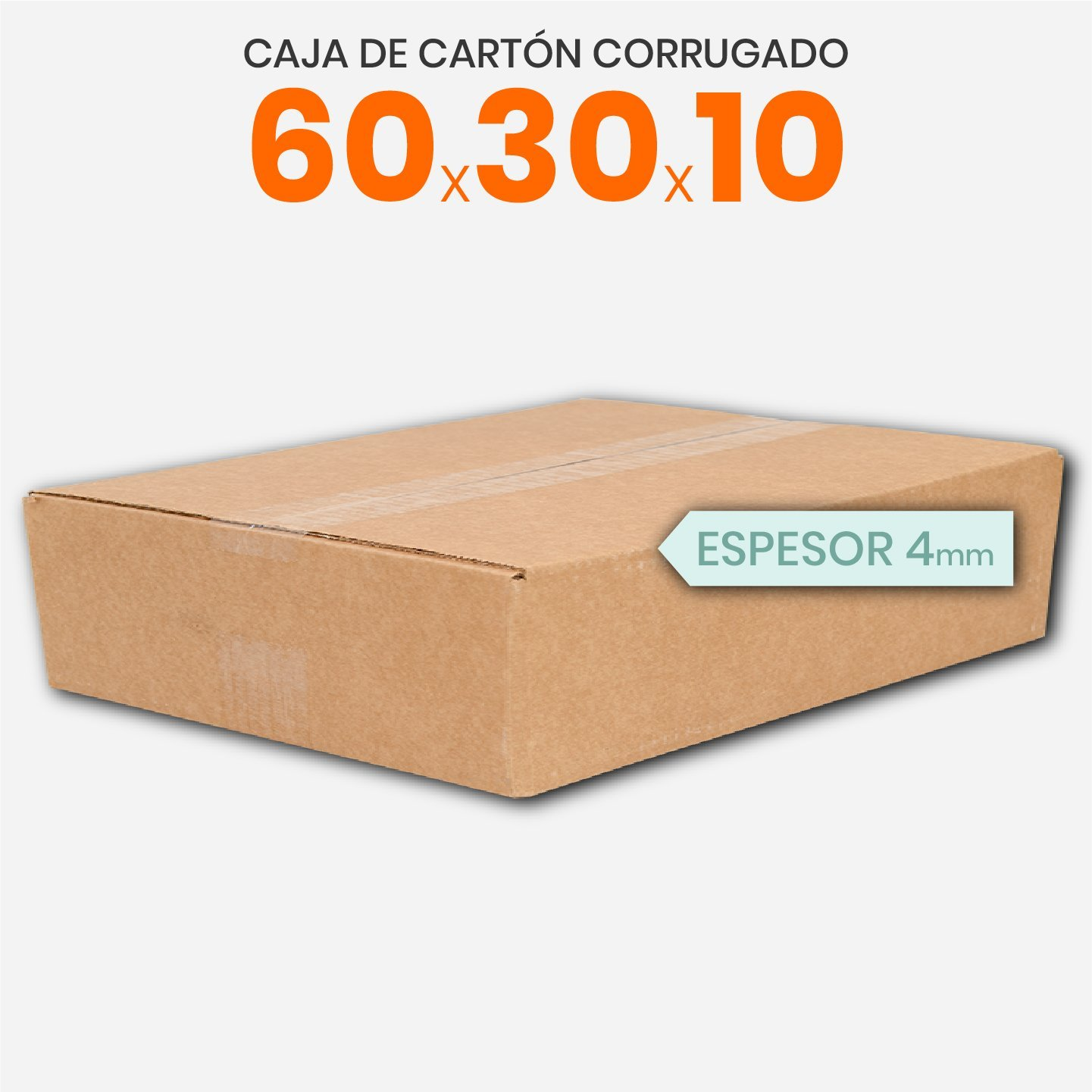 Caja De Cartón Corrugado 60x30x10 4mm