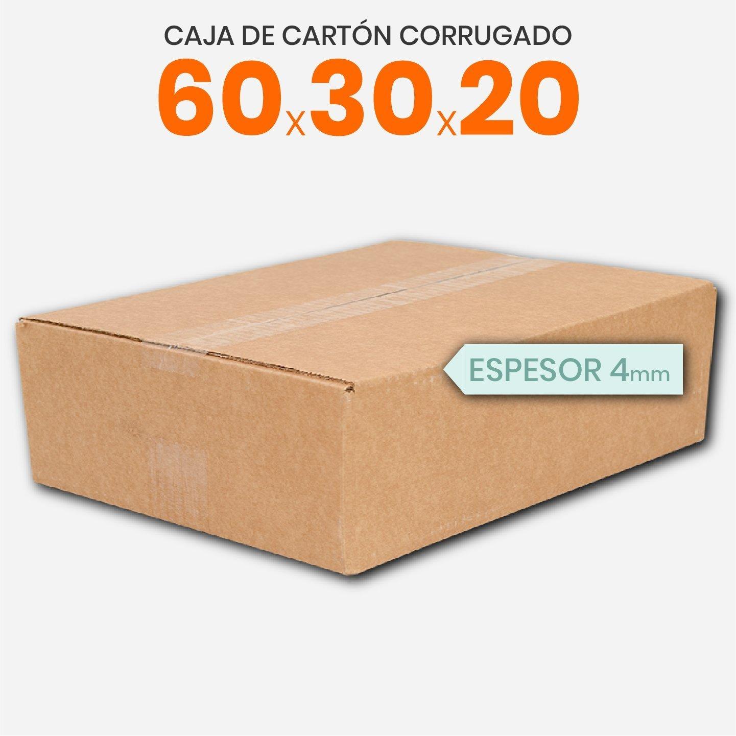Caja De Cartón Corrugado 60x30x20 4mm