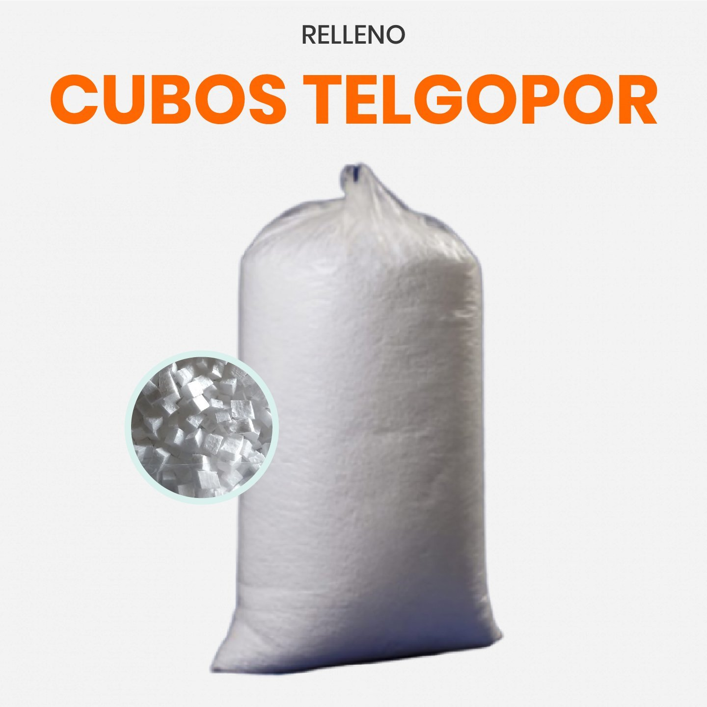 Relleno cubos de telgopor 1 kg x 2 unidades